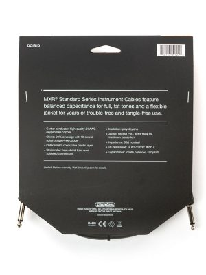 MXR Standard Instrument Cable 10ft