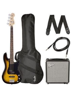 Squier Affinity Series Precision Bass PJ Pack Brown Sunburst